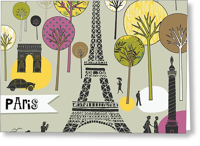Paris France Art Print Greeting Card