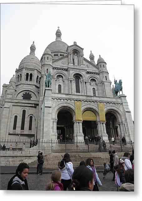 Paris France - Basilica Of The Sacred Heart - Sacre Coeur - 12121 Greeting Card