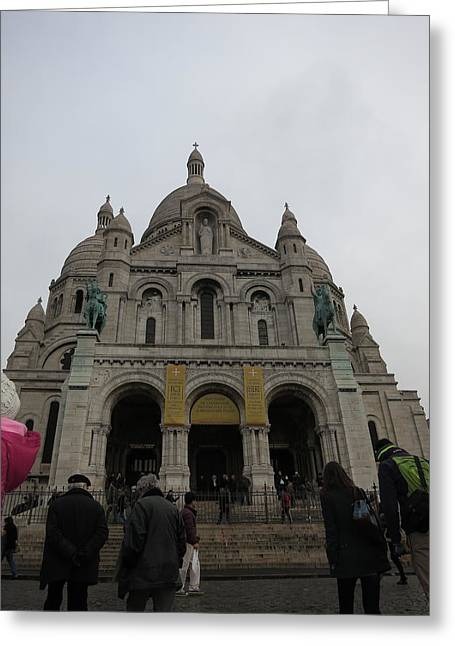 Paris France - Basilica Of The Sacred Heart - Sacre Coeur - 12124 Greeting Card by DC Photographer