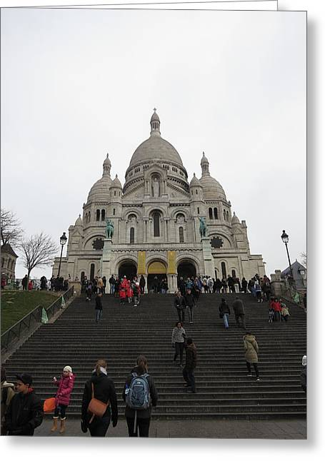 Paris France - Basilica Of The Sacred Heart - Sacre Coeur - 12125 Greeting Card by DC Photographer