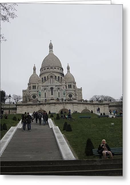 Paris France - Basilica Of The Sacred Heart - Sacre Coeur - 12128 Greeting Card by DC Photographer