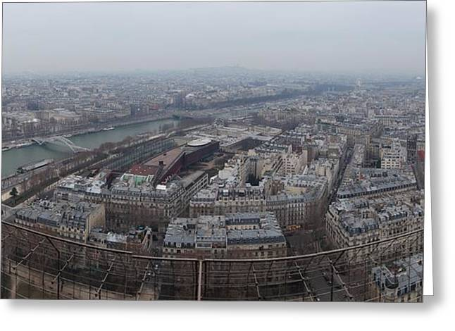 Paris France - Eiffel Tower - 01131 Greeting Card by DC Photographer