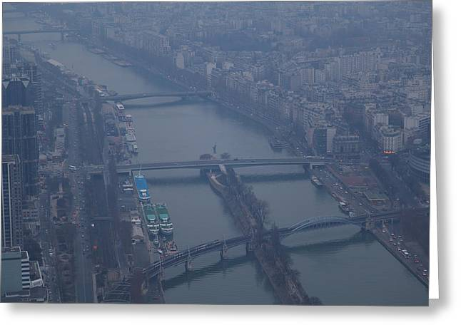 Paris France - Eiffel Tower - 011311 Greeting Card by DC Photographer