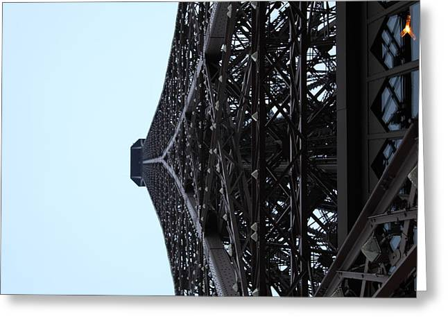 Paris France - Eiffel Tower - 011314 Greeting Card by DC Photographer