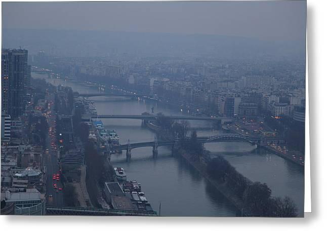 Paris France - Eiffel Tower - 011316 Greeting Card