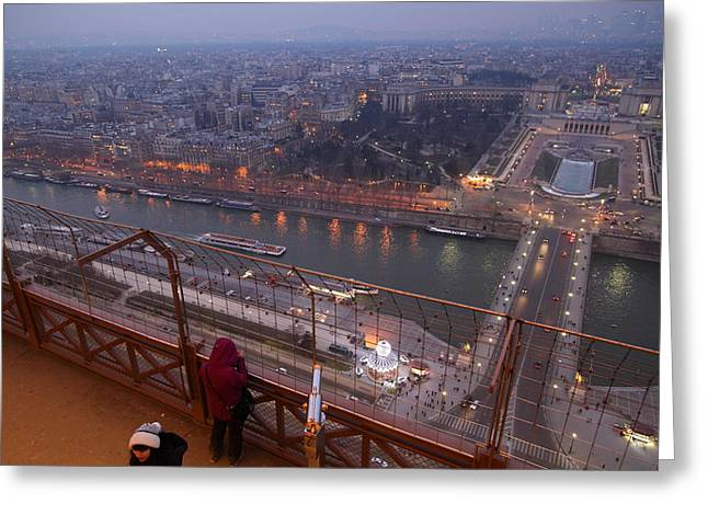 Paris France - Eiffel Tower - 011317 Greeting Card by DC Photographer
