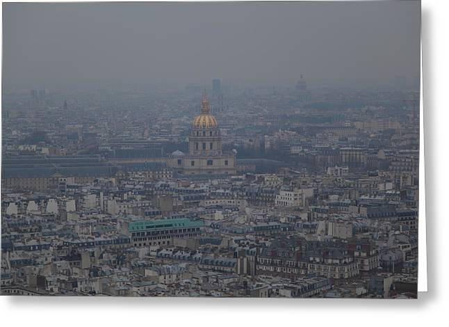 Paris France - Eiffel Tower - 01133 Greeting Card by DC Photographer