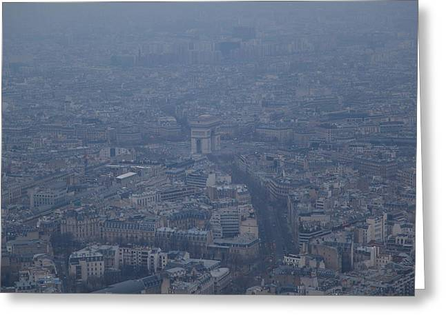 Paris France - Eiffel Tower - 01138 Greeting Card by DC Photographer