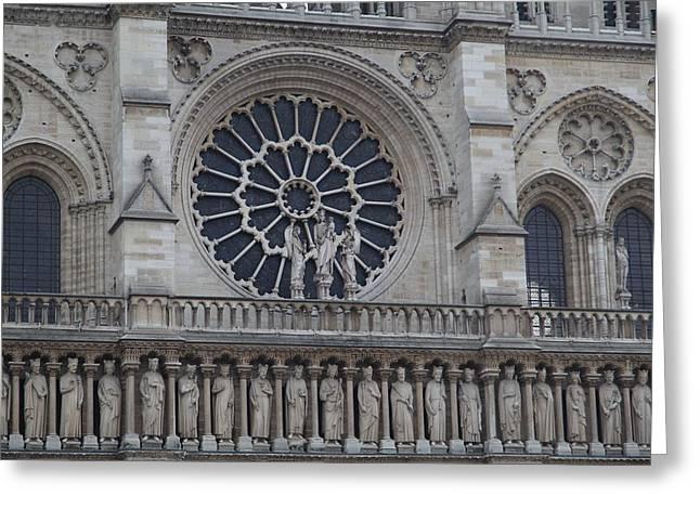 Paris France - Notre Dame De Paris - 01137 Greeting Card by DC Photographer