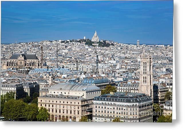 Paris France Sacre-coeur Basilica Greeting Card by Michal Bednarek