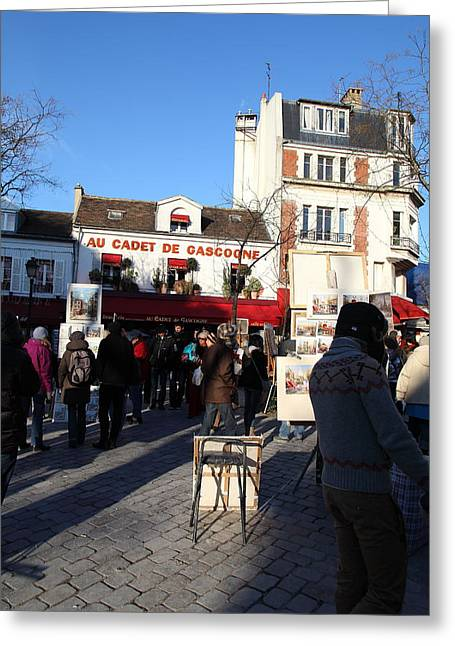Paris France - Street Scenes - 011311 Greeting Card by DC Photographer