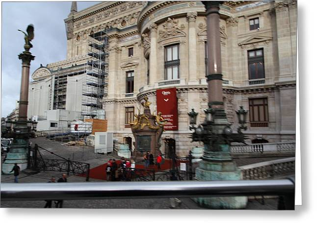 Paris France - Street Scenes - 0113110 Greeting Card by DC Photographer