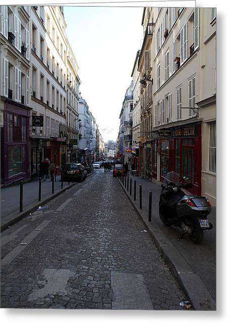 Paris France - Street Scenes - 01133 Greeting Card by DC Photographer