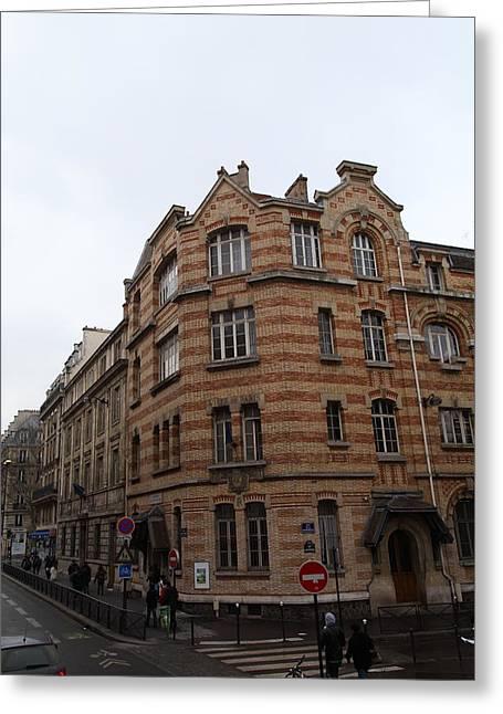 Paris France - Street Scenes - 011369 Greeting Card
