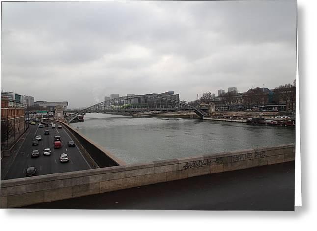 Paris France - Street Scenes - 011386 Greeting Card