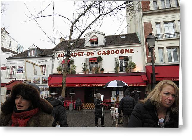 Paris France - Street Scenes - 121232 Greeting Card by DC Photographer