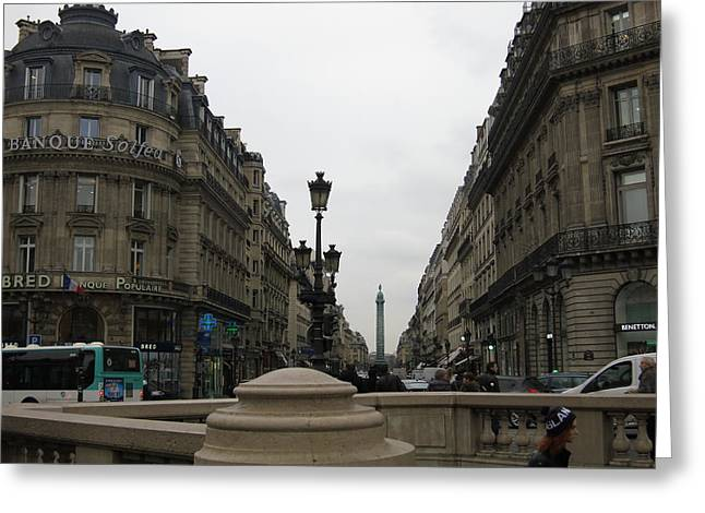 Paris France - Street Scenes - 121248 Greeting Card by DC Photographer