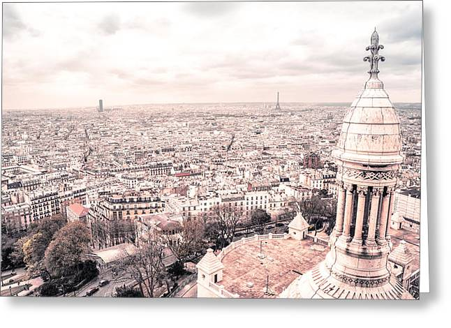Paris From Above - View From Sacre Coeur Basilica Greeting Card by Vivienne Gucwa