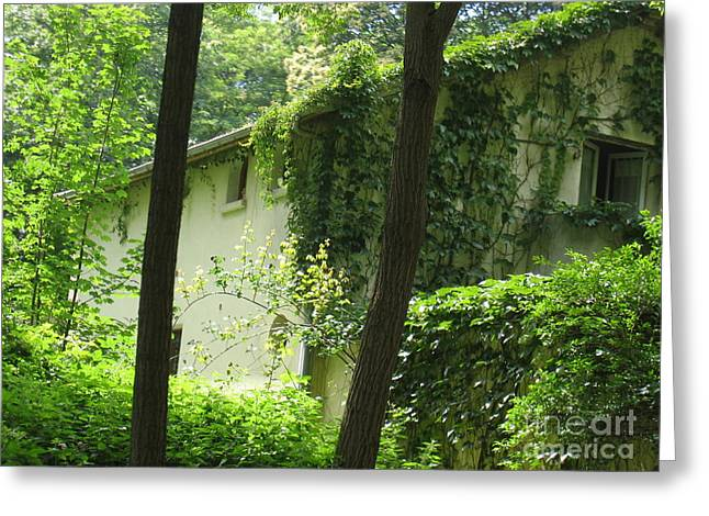 Paris - Green House Greeting Card