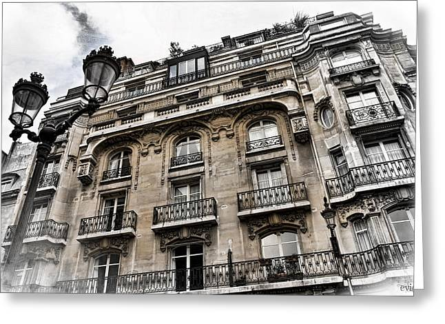 Paris Hotel Greeting Card by Evie Carrier