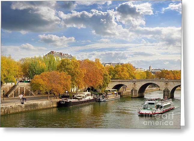 Paris In Autumn Greeting Card