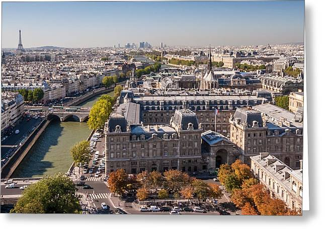 Paris In Autumn Greeting Card by Pierre Leclerc Photography