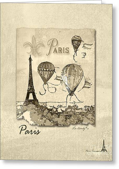 Paris In Sepia Greeting Card