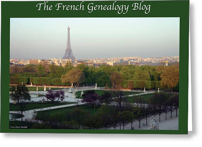 Paris In The Fall With Fgb Border Greeting Card