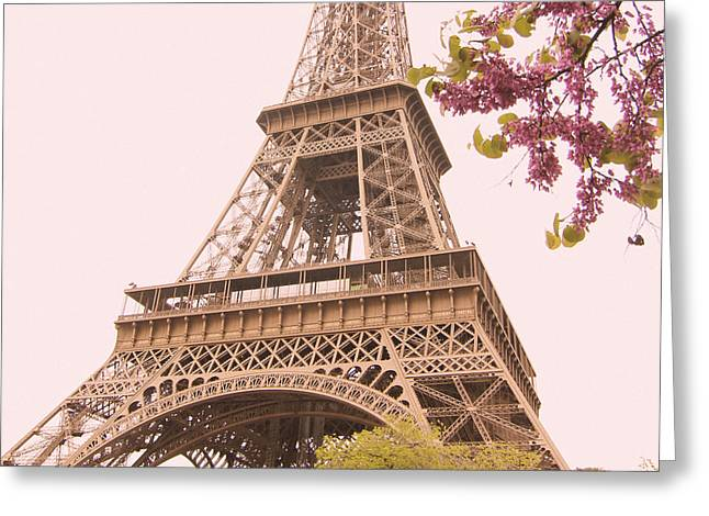 Paris In The Springtime Greeting Card