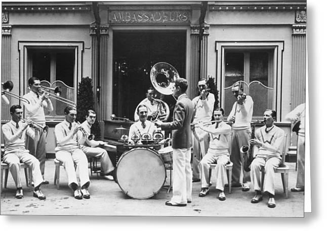 Paris Jazz Band, 1928 Greeting Card