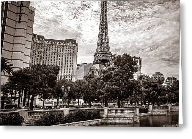 Paris Las Vegas Greeting Card