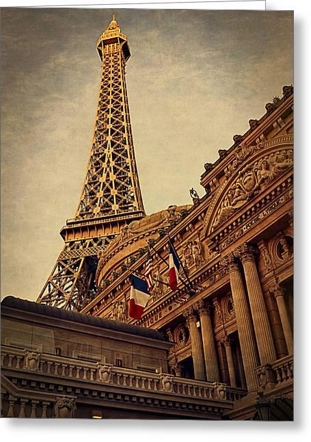 Paris - Las Vegas Greeting Card