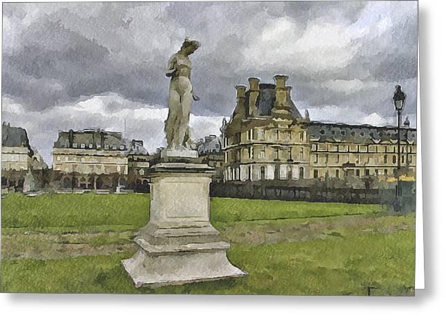 Paris Louvre 2 Greeting Card by Yury Malkov