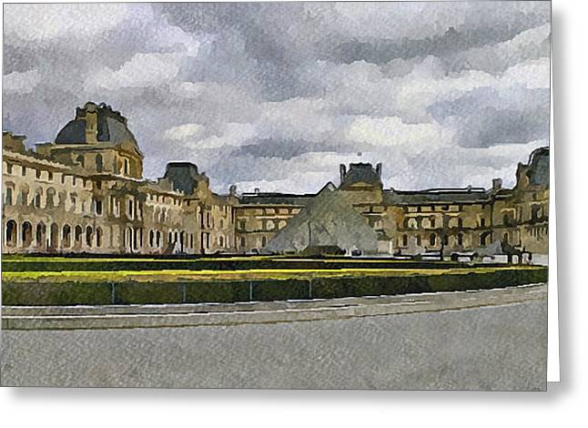 Paris Louvre 5 Greeting Card by Yury Malkov
