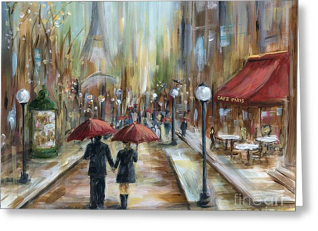 Paris Lovers Ill Greeting Card