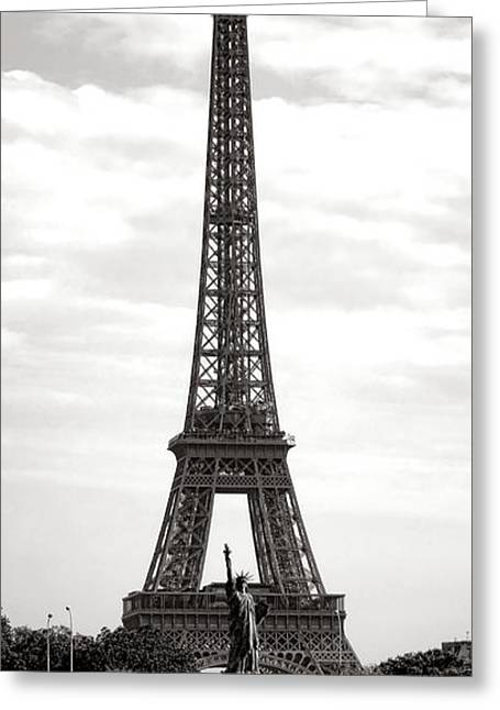 Paris Manhattan Greeting Card
