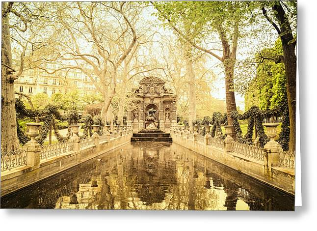 Paris - Medici Fountain - Garden Of Luxembourg Greeting Card