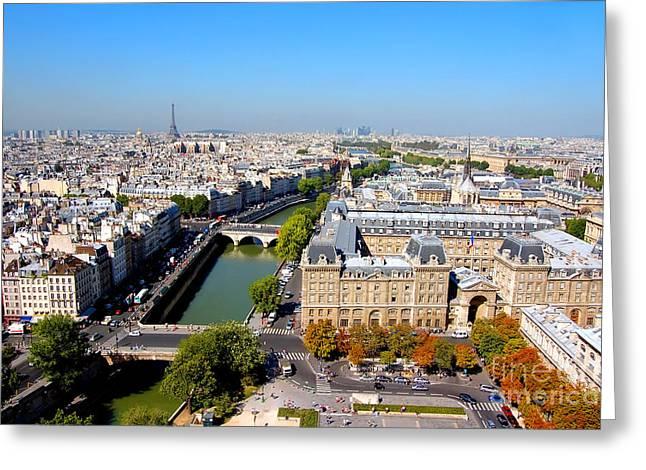 Paris Greeting Card by Michal Bednarek