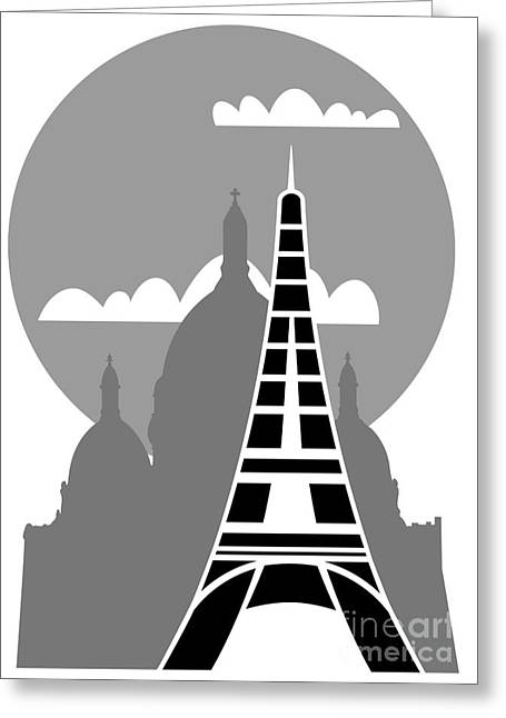 Paris Greeting Card by Michal Boubin