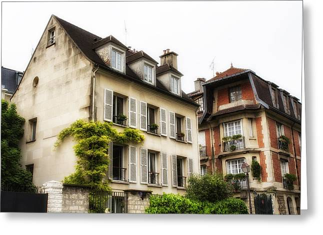 Paris Montmartre Houses Greeting Card by Georgia Fowler