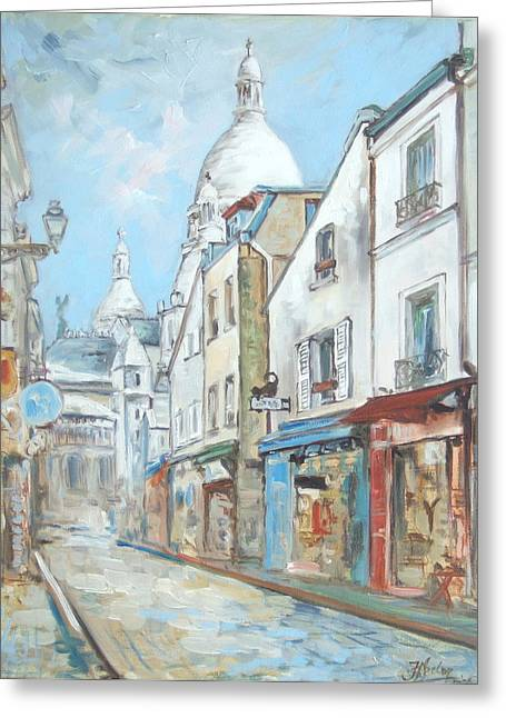 Paris - Montmartre Greeting Card by Irek Szelag