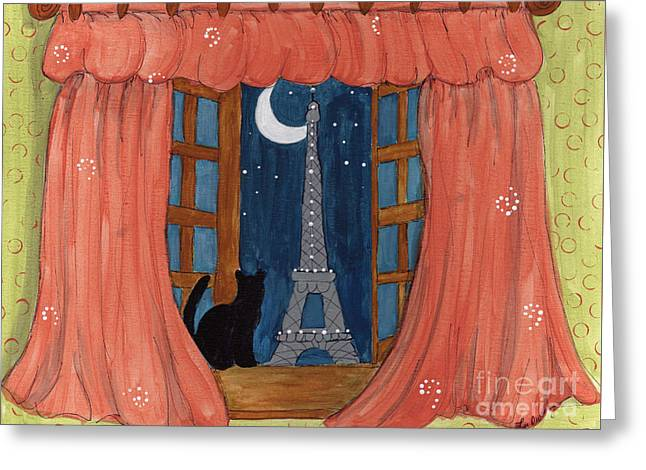 Paris Moonlight Greeting Card