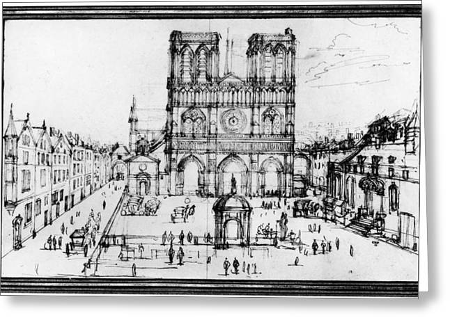 Paris Notre Dame, 1690s Greeting Card