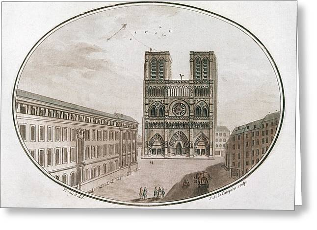 Paris Notre Dame, 1700s Greeting Card by Granger