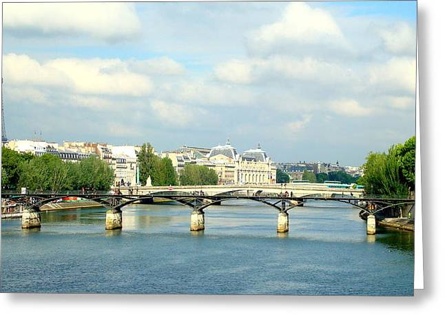 Paris On The Seine Greeting Card by Kay Gilley