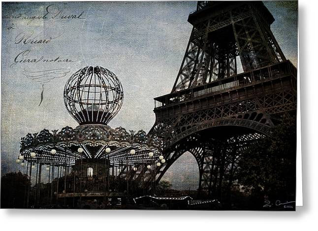 Paris One More Ride Greeting Card