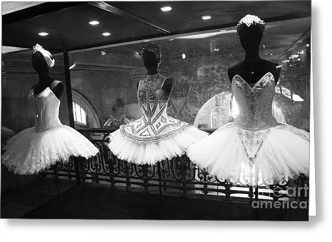 Paris Opera Garnier Ballerina Costume Tutu - Paris Black And White Ballerina Photography Greeting Card by Kathy Fornal