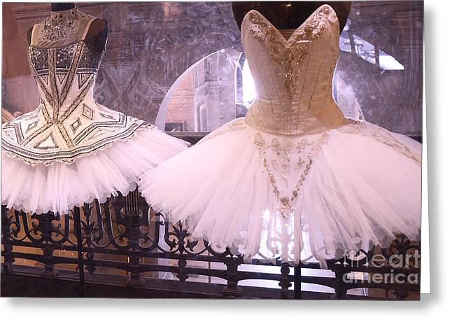 Paris Opera Garnier Ballerina Dresses - Paris Ballet Opera Tutu Costumes - Paris Opera Des Garnier  Greeting Card by Kathy Fornal