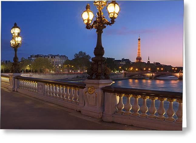 Paris Panoramic Greeting Card