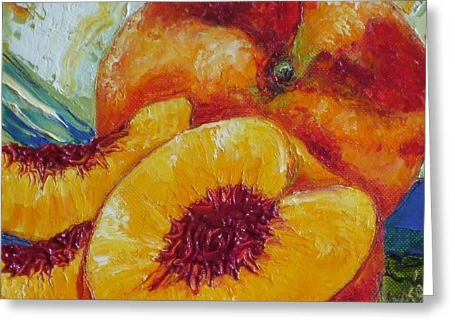 Paris' Peach Greeting Card by Paris Wyatt Llanso